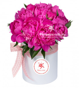 Box of peonies